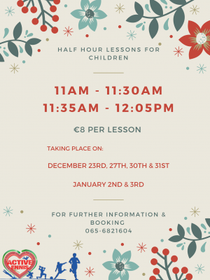 Christmas Intensive Lessons Poster