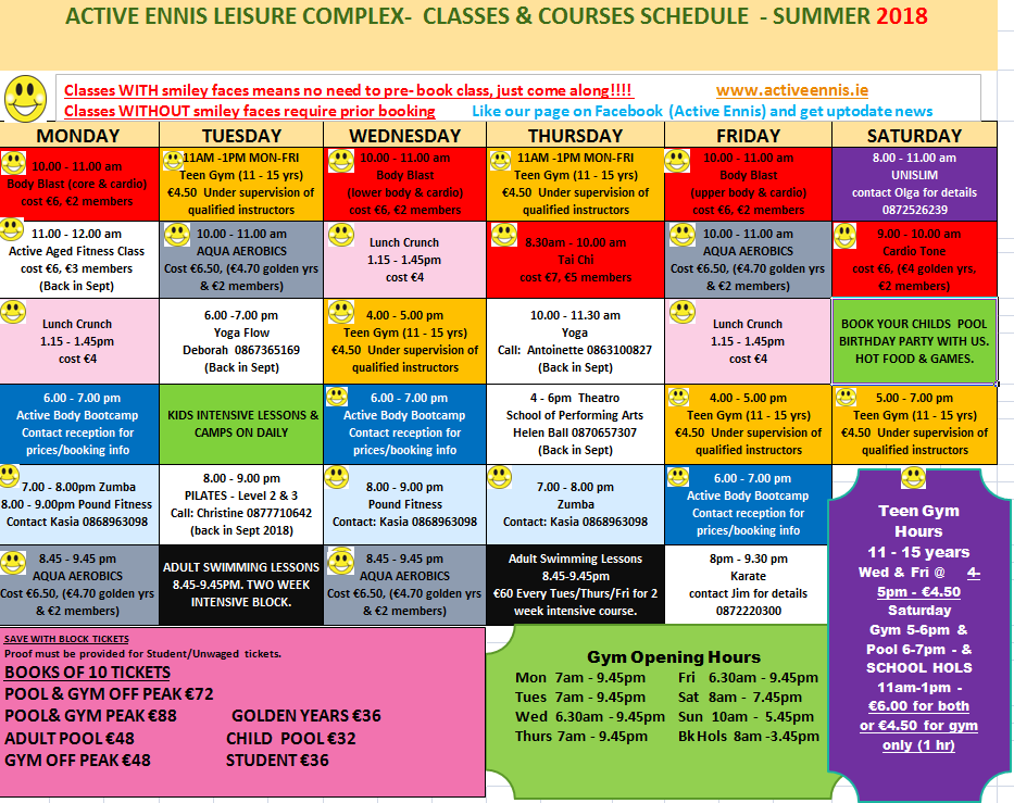 Gym classes summer for website