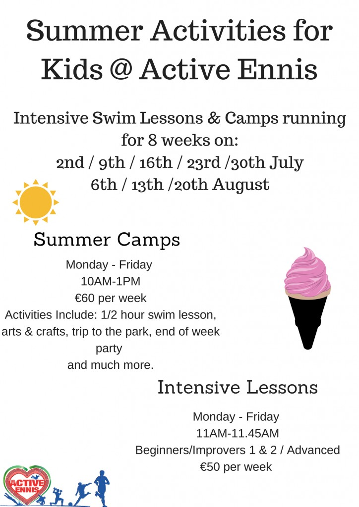 Summer Activities for kids @ Active Ennis