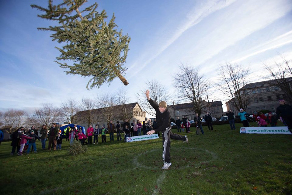 Christmas tree throwing pic